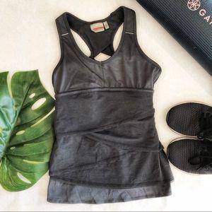 Athletes Layered Grey Workout Tank Size XS EUC